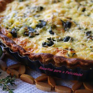 Cucumber and Spinach Quiche.