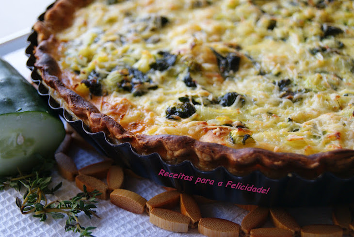 Cucumber and Spinach Quiche