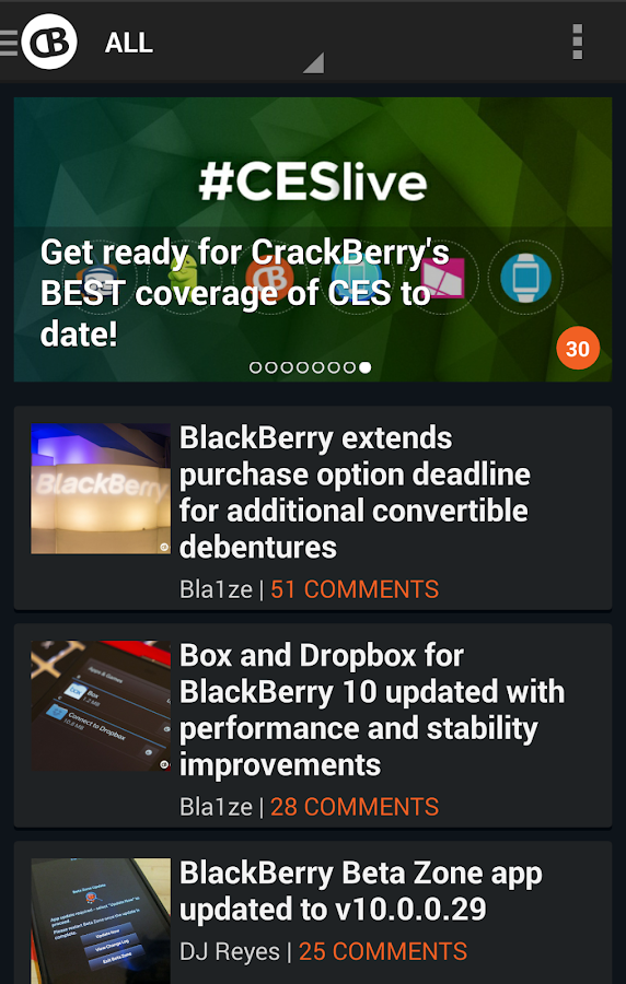 CrackBerry — The App! - screenshot