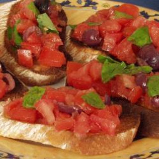 Tomato, Olive and Basil Bruschetta Recipe