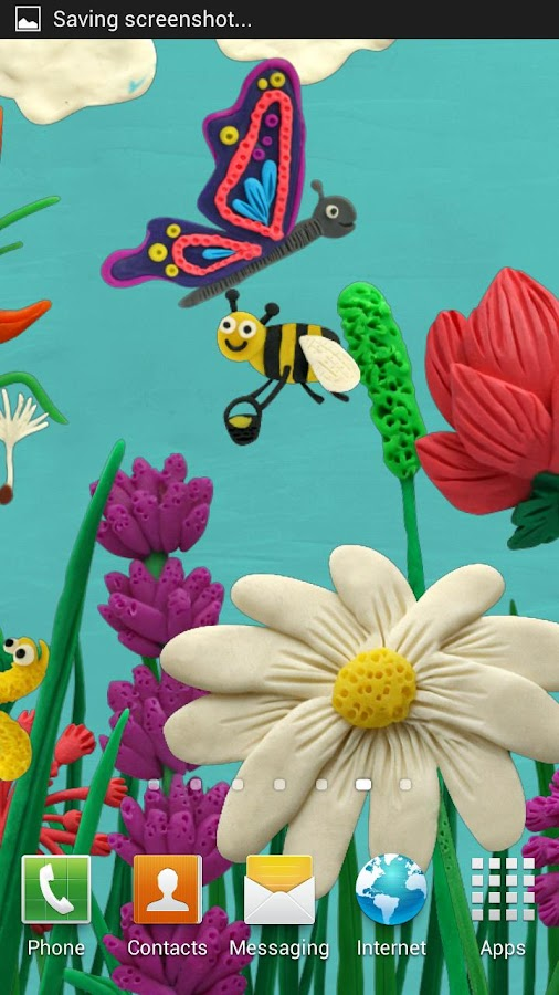 Plasticine Spring flowers LWP - screenshot