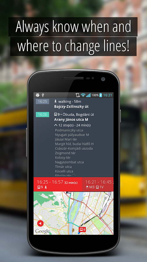SmartCity Budapest Transport - screenshot