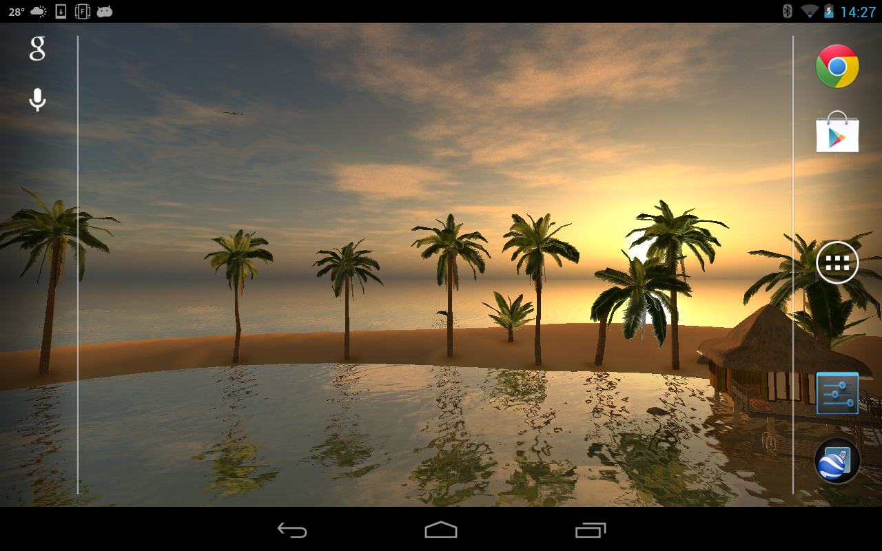 Maldives 3D LWP, True Weather- screenshot