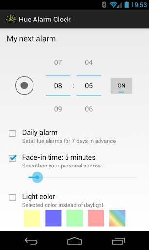 Hue Alarm Clock