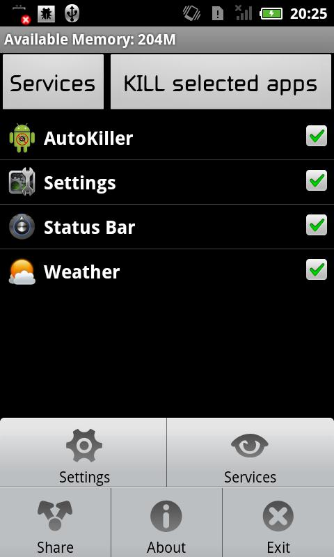 AutoKill Task Manager - screenshot