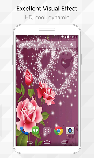 Sparkly Heart Live Wallpaper
