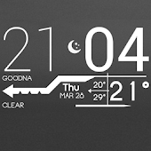 Lines Clock - UCCW Skin