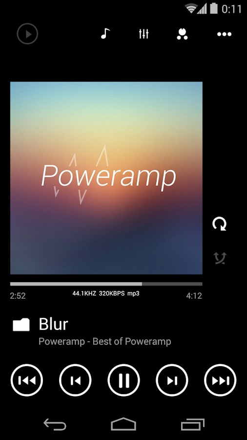 Poweramp skin Metro UI - screenshot