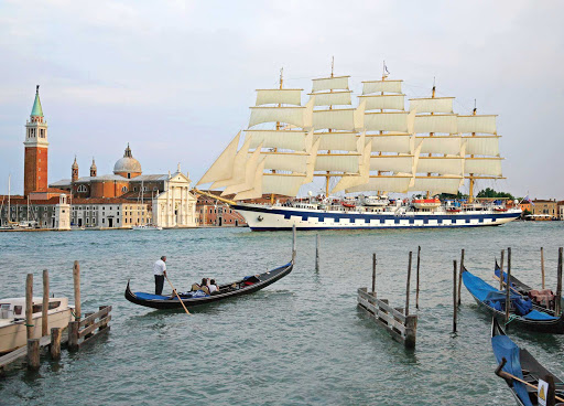 Royal-Clipper-in-Venice - Take in Venice as you've never seen her during a sailing on the clipper ship Royal Clipper.