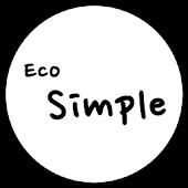 카카오톡 테마 - Eco Simple Black v2
