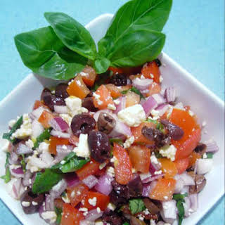 Tomato, Basil and Feta Cheese Salad recipe – 64 calories.