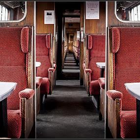 passage by Sandy Crowe - Transportation Trains ( passenger, passage, carriage, train, seats,  )