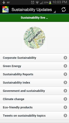 Sustainability Updates