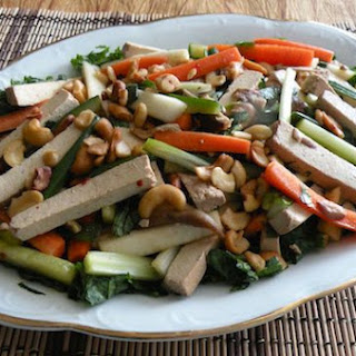 Chinese-Style Shredded Cold Vegetables and Tofu.