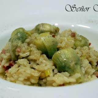 Artichoke and Iberian Ham Risotto.