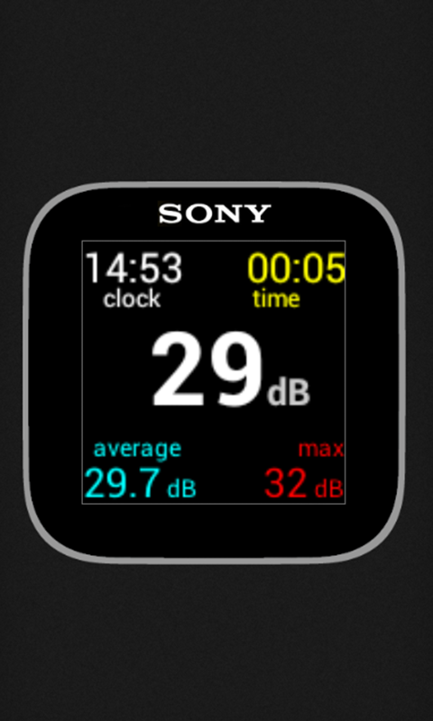 Sound Meter for SmartWatch- screenshot