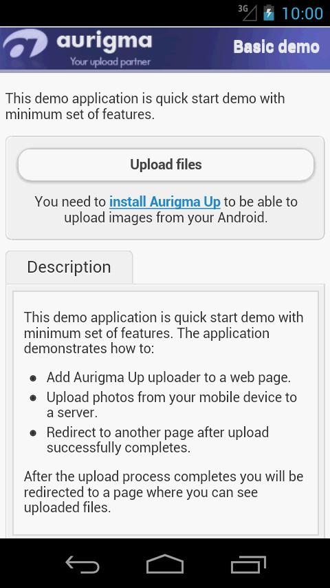 Aurigma Up- screenshot