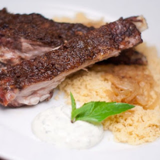 Curry Crusted Lamb Breasts with Thai Basil Raita