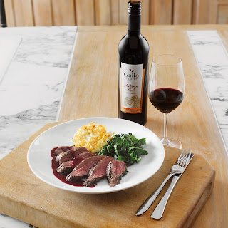 Gallo Family Vineyards Autumn Red'S  Venison Steak with Blackberry Sauce and Horseradish & Potato Rosti Recipe