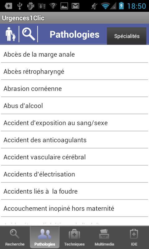 Urgences1Clic– Capture d'écran