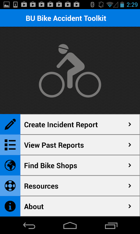BU Bike Accident Kit - screenshot