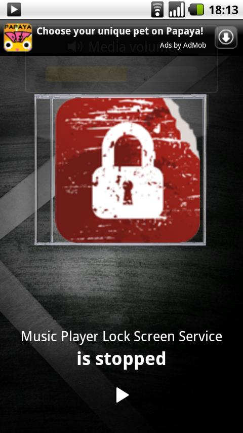 Music Player Lock Screen - screenshot