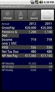 PhoneTax.eu Eire TaxCalc 2017- screenshot thumbnail