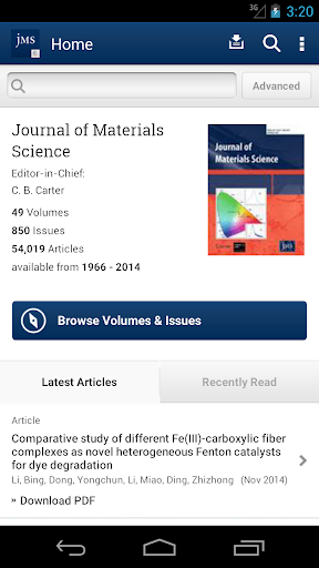 Journal of Material Science