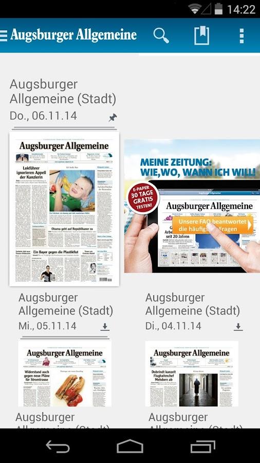 Augsburger Allgemeine - screenshot