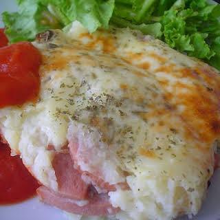 Potato and Sausage Casserole.