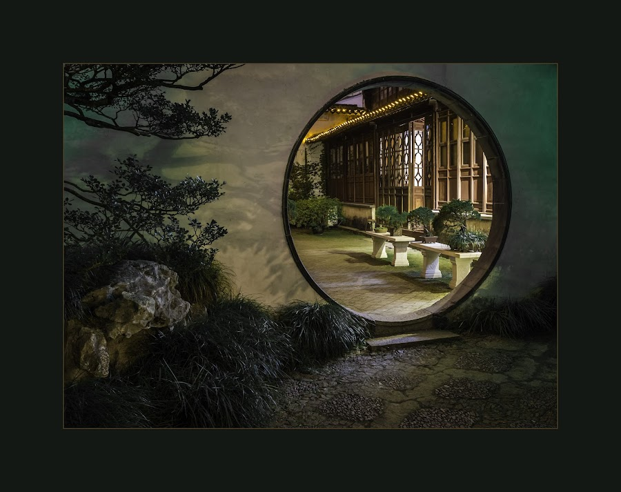 Chinese Garden by Tom Reiman - Artistic Objects Other Objects ( circular, door, garden, chinese,  )