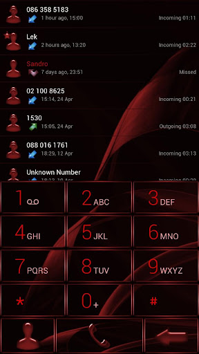 Dialer MetalGate Red Theme