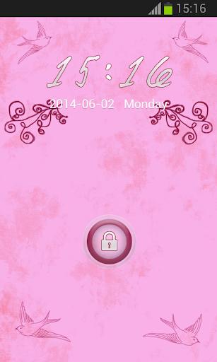 粉紅色的白日夢儲物櫃主題