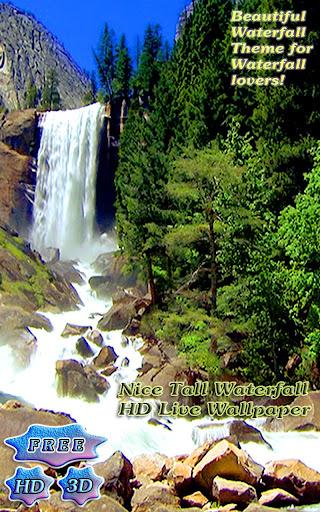 3D Nice Tall Waterfall Free