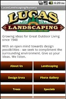 Screenshot of Lucas Landscaping & Nursery