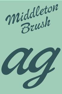 Middleton Brush Flipfont
