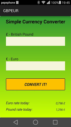 Simple GBPEUR Converter