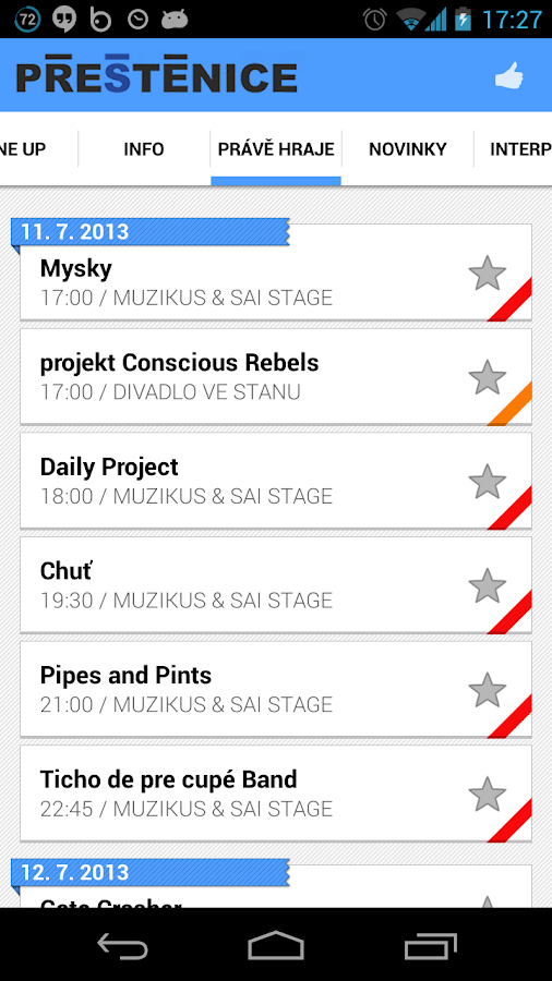 Open Air Musicfest Přeštěnice- screenshot