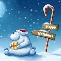Merry Xmass Background i logo