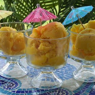 Fresh Mango Sorbet with Pineapple