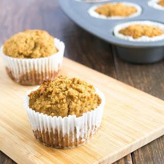 Grain Free Pear Flax Muffins .