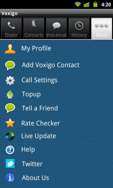 Voxigo-Cheap Mobile VOIP Calls - screenshot