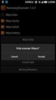 Screenshot of Recovery Executer 1.5.0