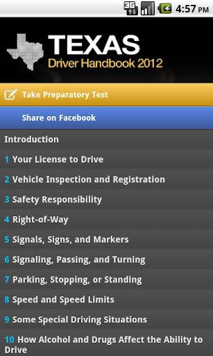 Driver Handbook - Texas