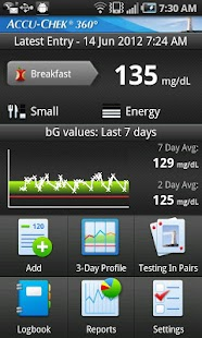 ACCU-CHEK® 360° Diabetes Mgmt. - screenshot thumbnail