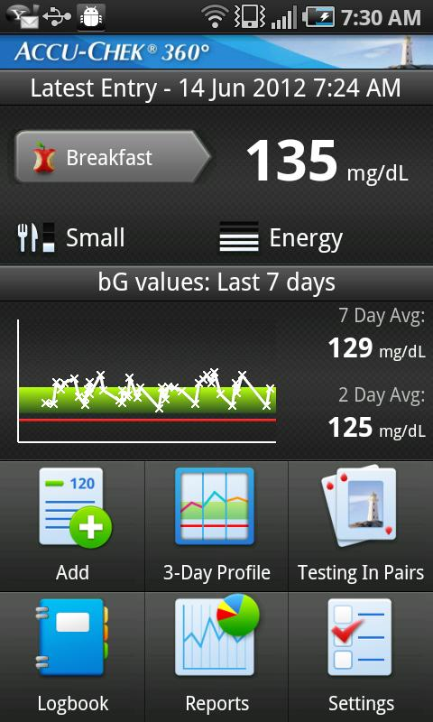 ACCU-CHEK® 360° Diabetes Mgmt.- screenshot