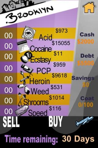 Dope Wars for Android!- screenshot