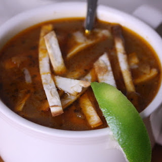 Vegetarian Tortilla Soup.
