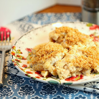 Homemade Poppy Seed Chicken Casserole (Low Fat, Low Calorie) #SundaySupper
