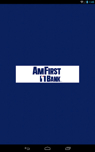 AmFirst Bank Anywhere - Tablet